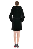 LUXURY COLOUR BLOCK FAUX MINK COAT WITH DIAMOND BUCKLE - Adelaqueen - 5