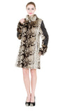 NEW ITALY STYLE ANIMAL PRINT FAUX LEATHER JACKET - Adelaqueen - 2