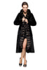 Women's Sheared Mink Faux Fur Coat Hooded