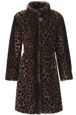 Clearance! Black Elegant and Vintage Mink Fabulous Faux Fur Coat