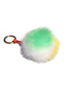 Faux Fur Fuzzy Ball Pom Pom Keychain Multi block