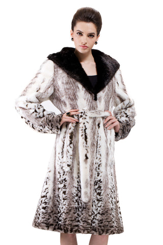 Blue Practic Revesible Short Jacket Fabulous Faux Fur Coat