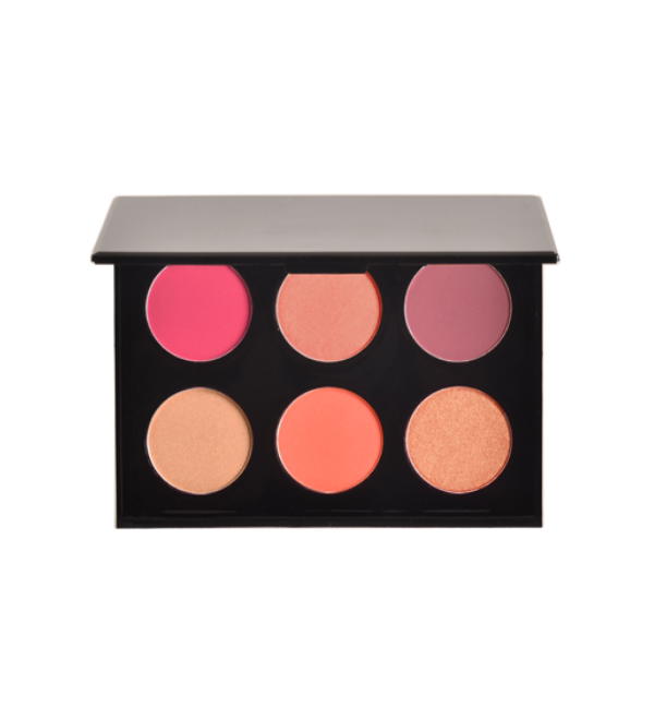 6 Shade Blush Palette - Light - MK116BS