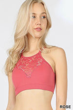 Rose Lace Strappy Back Bralette - BRA1036RO