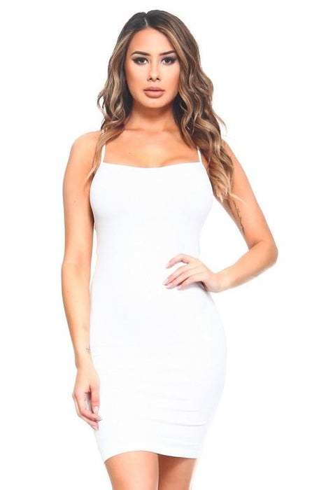 White Cami Slip Dress - CAM011WH