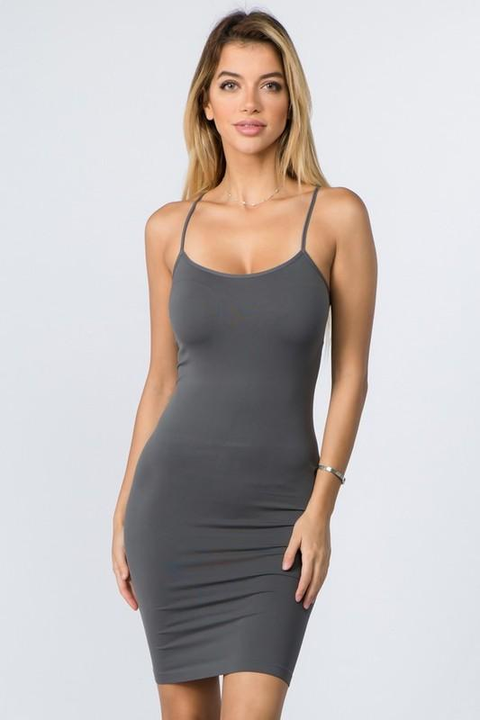 Gray Cami Slip Dress - CAM011GR