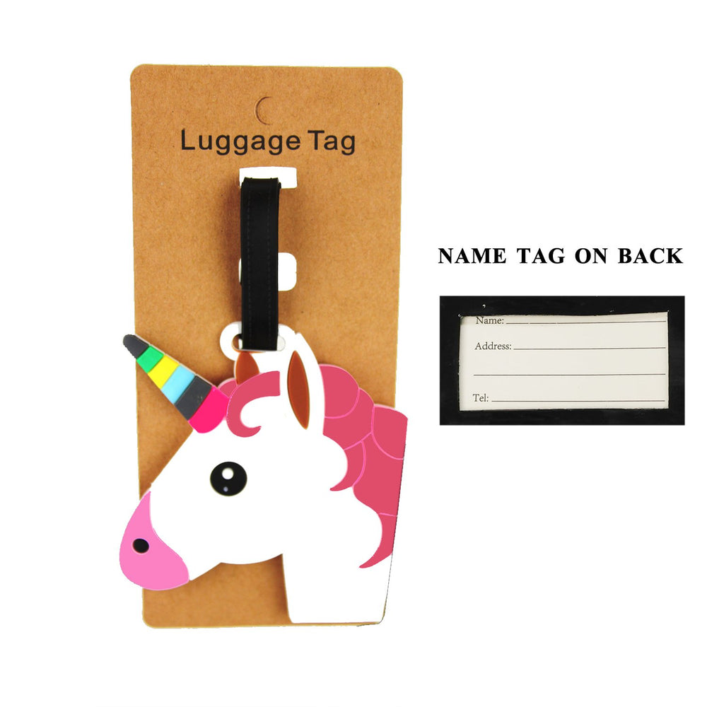 White Unicorn Luggage Tag - TAG1028WH
