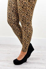 Leopard Printed Leggings (Sizes 20-26) - LEG2192LE
