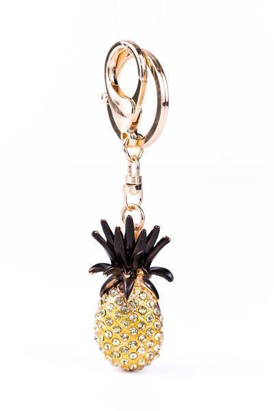 Gold Pineapple Bling Keychain - KEY1017GO