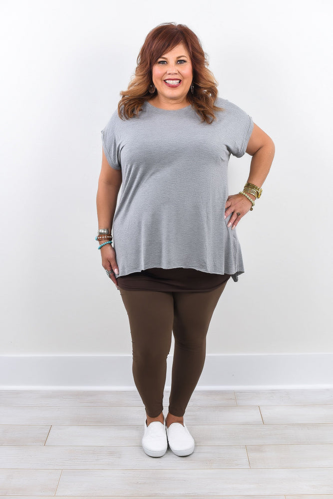 Mocha Solid Leggings (Sizes 20-26) - LEG1291MO