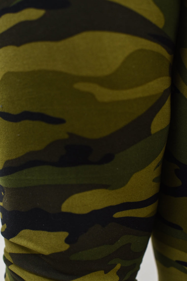 Camouflage Printed Leggings (Sizes 20-26) - LEG1361CA