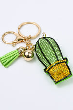 Cactus Soft Crystal Green Keychain - KEY1029GN