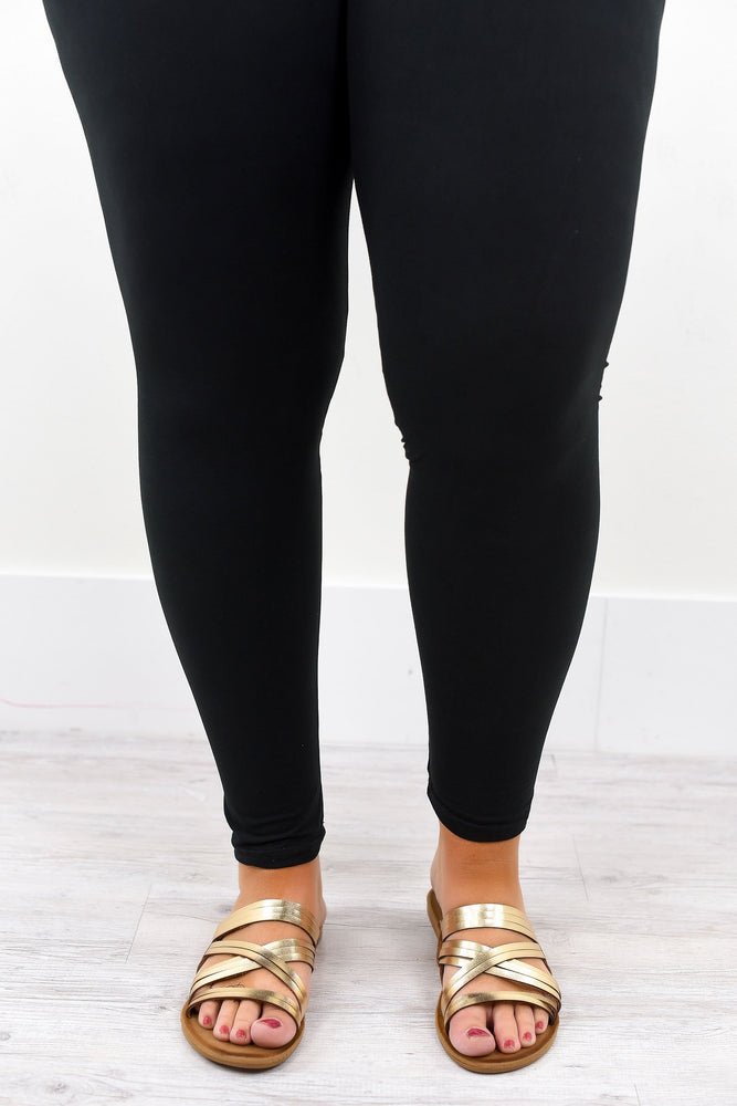 Black Solid Leggings (Sizes 20-26) - LEG1287BK