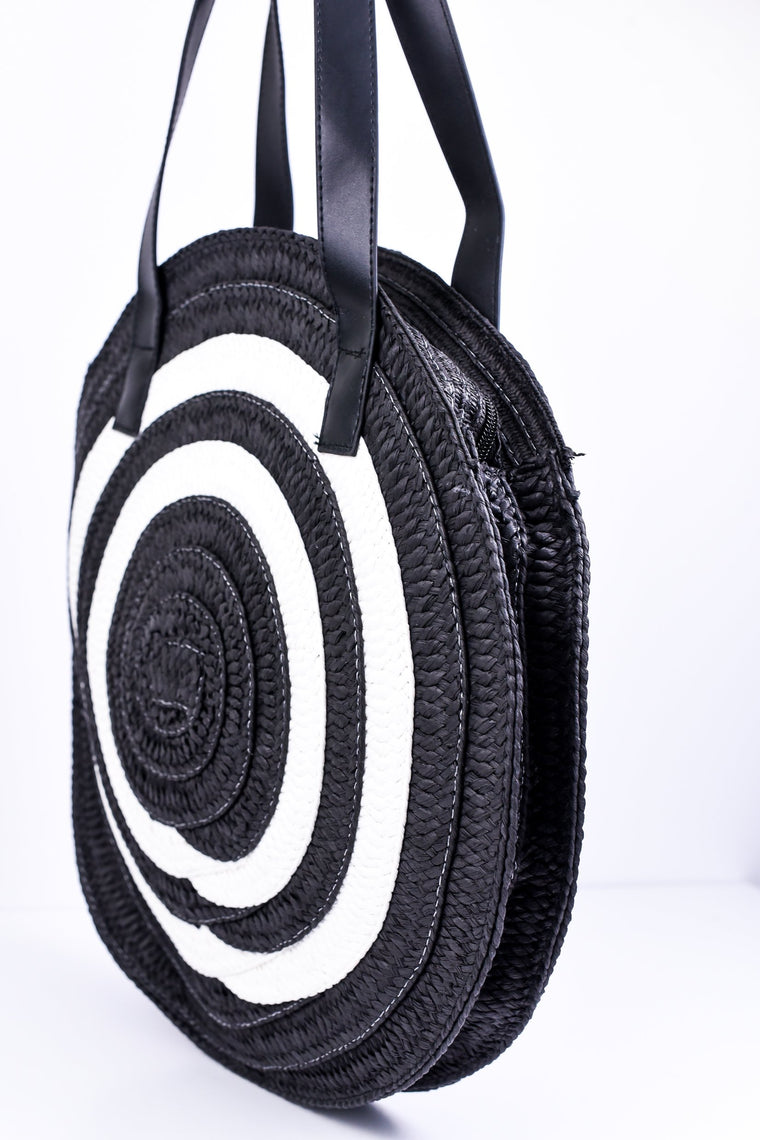Going In Circles Black/White Bag - BAG1113BW