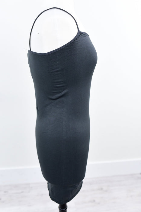 Charcoal Gray Cami Slip Dress (Sizes 12-18) - SLP004CG