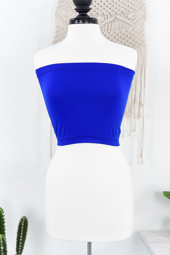 Royal Blue Seamless Bandeau (Sizes 12-18) - BND332RB