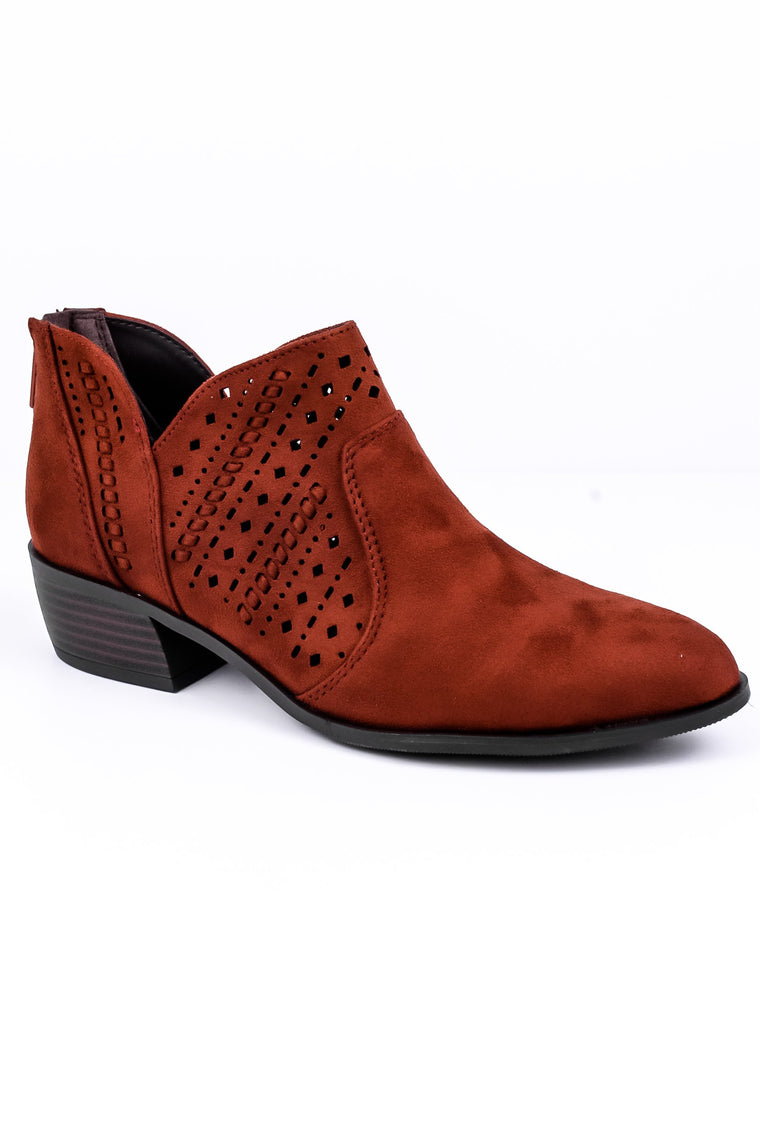 Step It Up Rust Booties - SHO1212RU