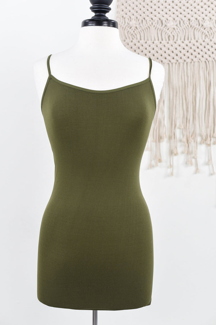 Olive Basic Seamless Cami - CAM767OL