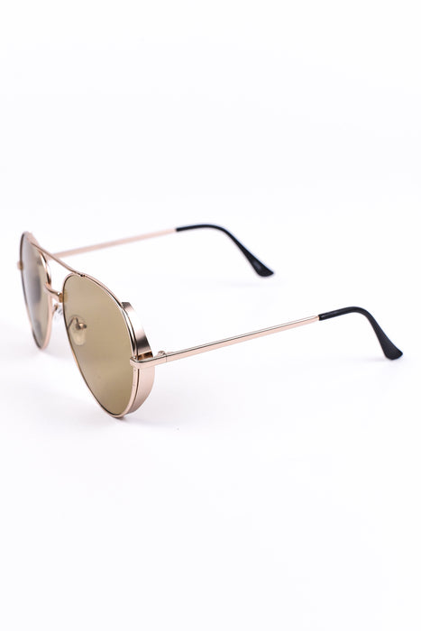 Olive/Gold Sunglasses - SGL118OL - FREE hard case