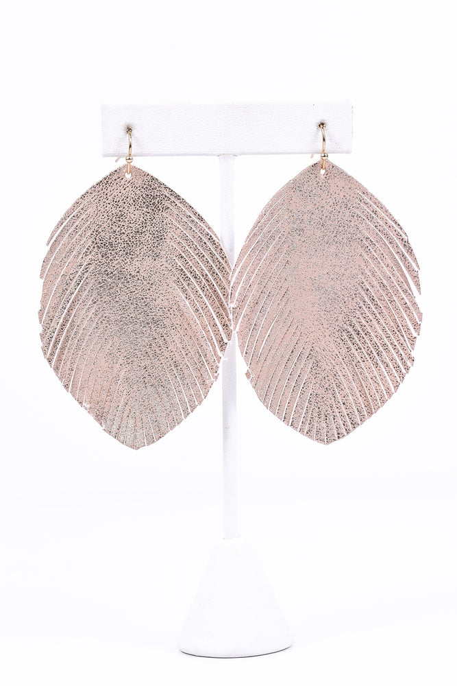 Rose Gold Metallic Fringe Earrings - EAR1590RG
