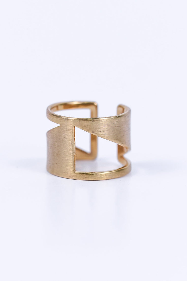 Gold Adjustable Ring - RNG1053GO