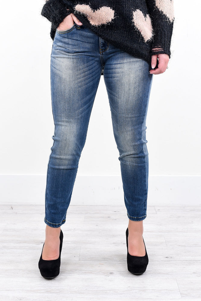 My Favorite Go To Medium Denim Jeans - K207DN