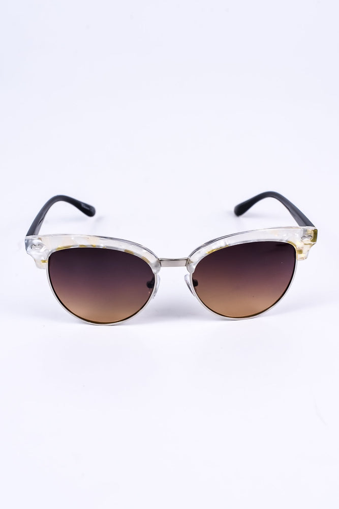 Clear/Brown Lens Sunglasses - SGL121CL - FREE hard case
