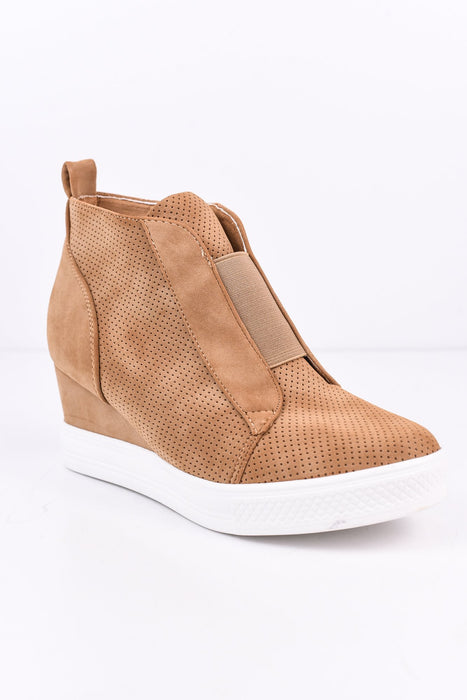 Dedicated To You Camel Wedge Bootie - SHO1262CA