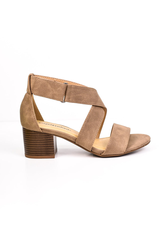 Heels The Deal Light Taupe Shoes - SHO1464LTA