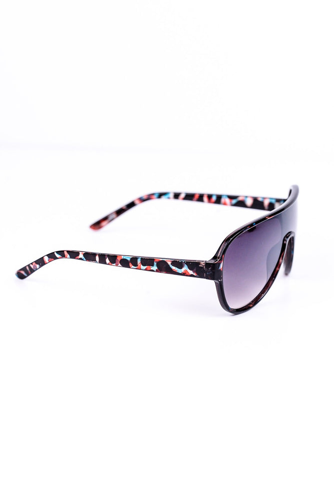 Blue/Red/Brown Frame Sunglasses - SGL222BL - FREE hard case