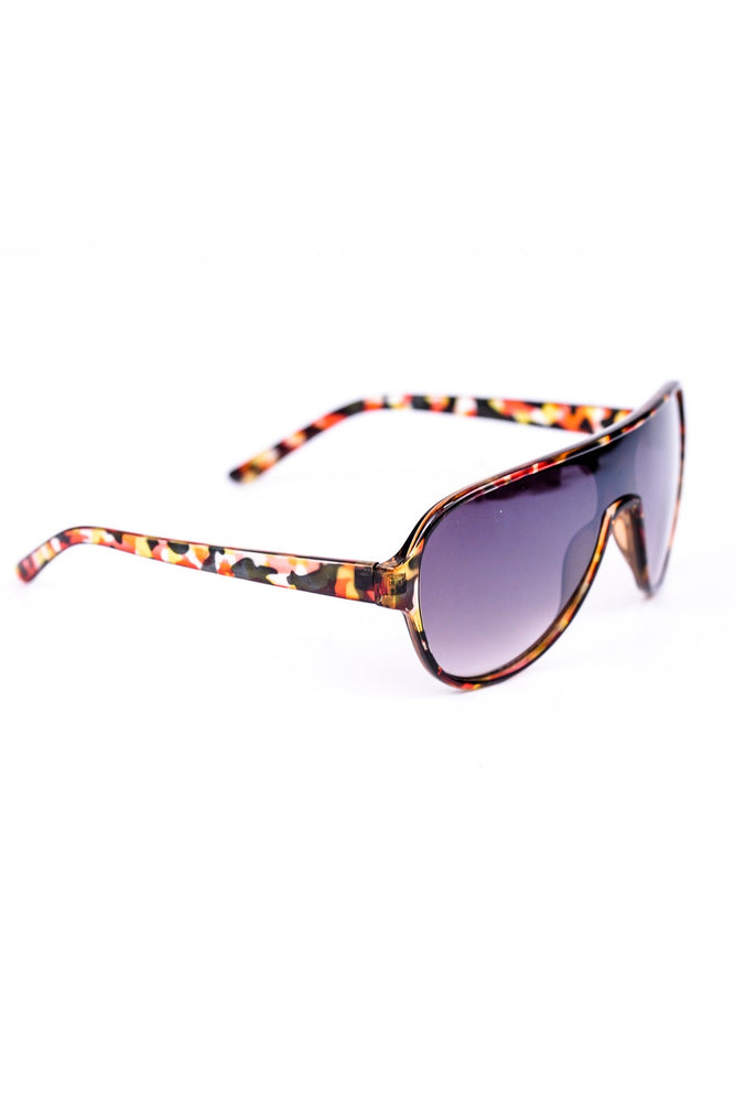 Mustard/Red/Brown Frame Sunglasses - SGL220MS - FREE hard case