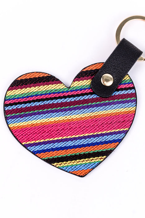 Rainbow Heart Keychain - KEY1071RN