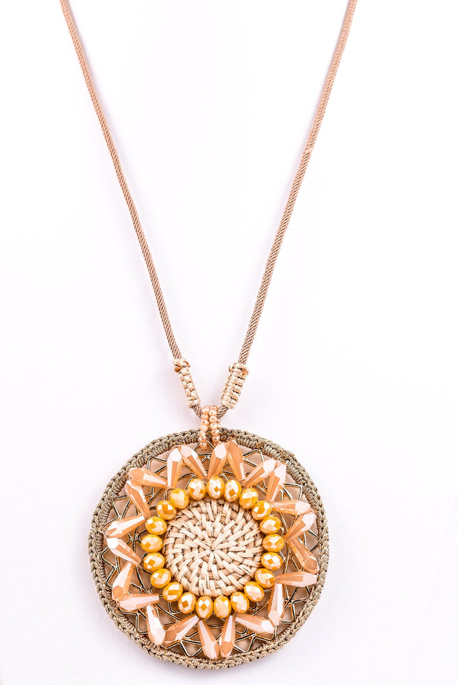 Natural Medallion Necklace - NEK2588NA