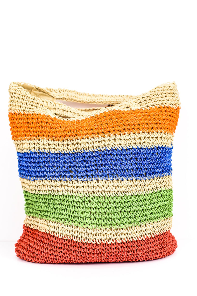 Hold This Together Multi Color Crochet Bag - BAG1278MU