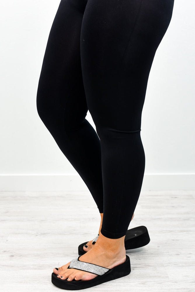 Black Solid Leggings (Sizes 12-18) - LEG2421BK