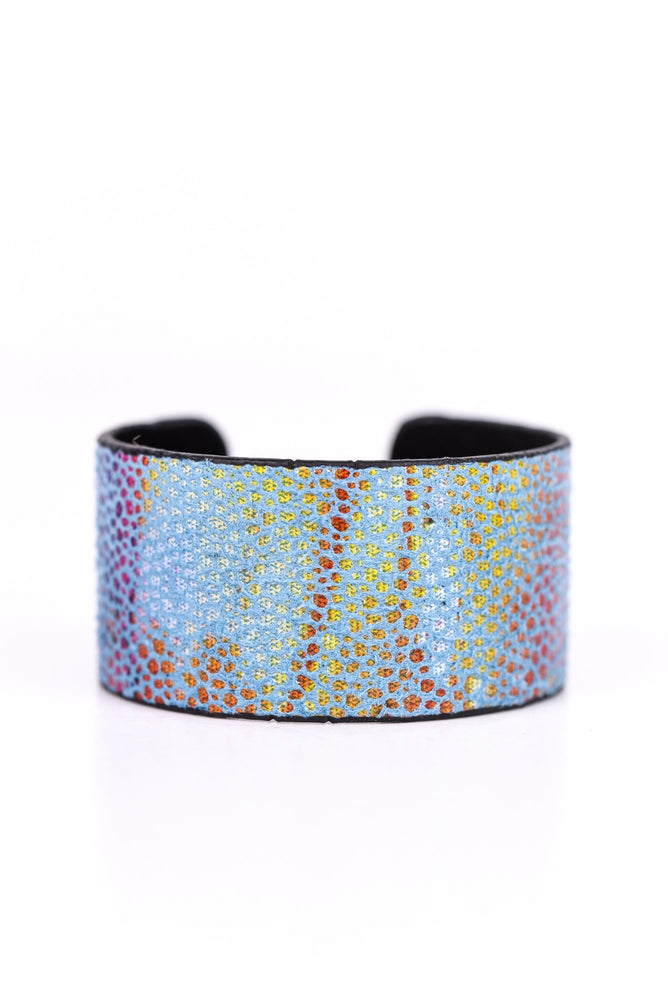 Blue/Multi Color Cuff Bracelet - BRC2145BL