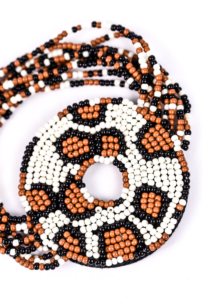 Leopard Seed Bead Circle Stretch Bracelet - BRC2157LE