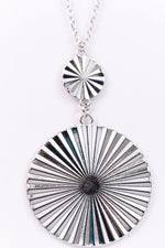 2-Tier Silver Disk On Chain Necklace - NEK2667SI
