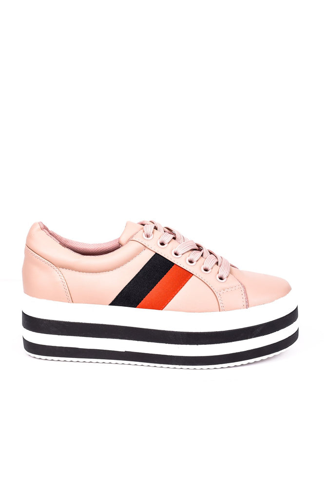 Expensive Taste Blush Platform Sneakers - SHO1543BS