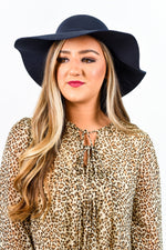 Navy Floppy Hat - HAT1110NV