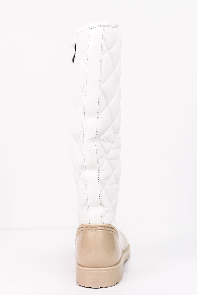Come Rain Or Shine Beige Rain Boots - SHO1555BG