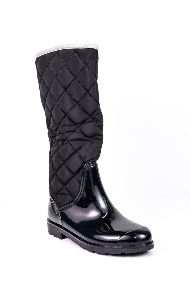 Come Rain Or Shine Black Rain Boots - SHO1554BK