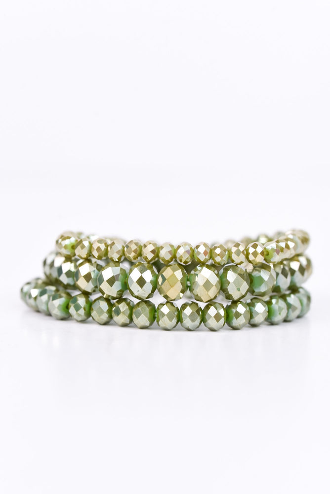 Green Stackable Bracelet - BRC2207GN