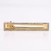 Large Rectangle Cut Out Gold/Bling Hair Clip - CLP153GO