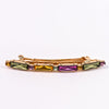 Gold/Multi Color Crystal Hair Clip - CLP146GO