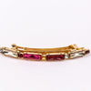 Fuchsia/Gold/Multi Color Crystal Hair Clip - CLP147FU