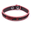 Burgundy Leopard/Crystal Snap Closure Bracelet - BRC2254BU
