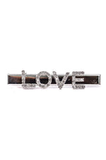 'Love' Silver/Bling Hair Clip - CLP176SI