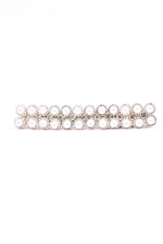 Pearl/Bling Rectangle Hair Clip - CLP166PR