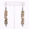 'Feelings' Silver/Gold Drop Earrings - EAR2525SI